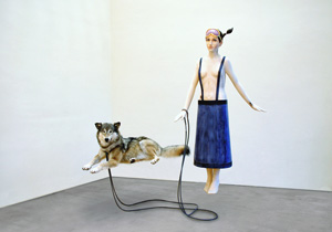 Young lady with pet II